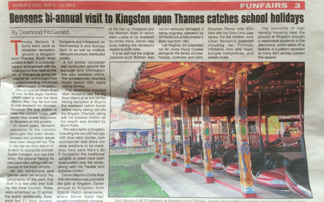 Kingston Funfair – In the News