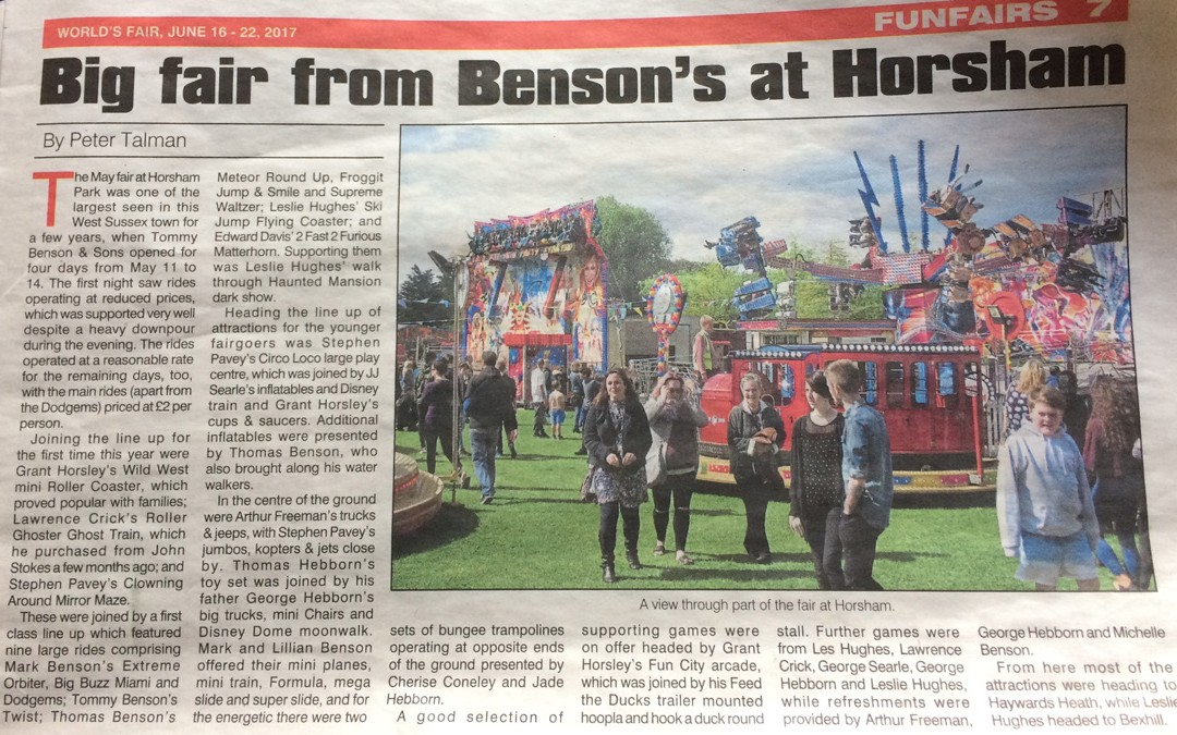 Horsham Funfair – In the News