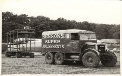 Benson's M&L Pleasure Fairs funfair at Dorking over 40 years ago